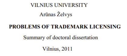 Arūnas Želvys, Vilnius University Ph.D.