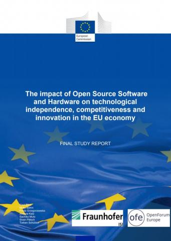 An image of: Study about the impact of open source software and hardware on technological independence, competitiveness and innovation in the EU economy