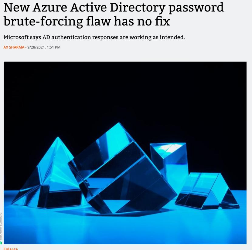 New Azure Active Directory password brute-forcing flaw has no fix   Ars Technica