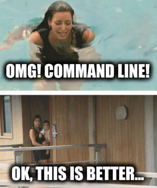 OMG! Command line! OK, this is better...