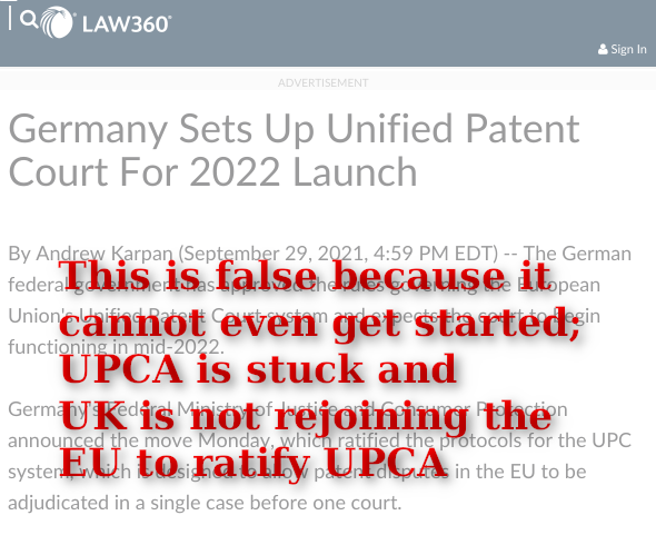 This is false because it cannot even get started; UPCA is stuck and UK is not rejoining the EU to ratify UPCA