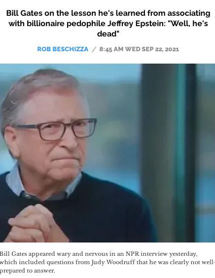 Gates NPR interview