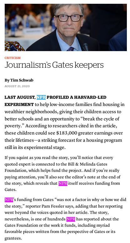 Gates NPR