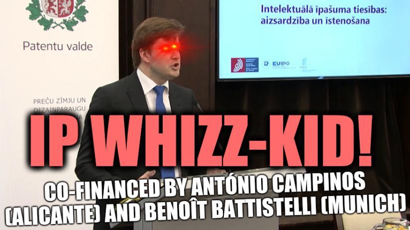 IP whizz-kid, co-financed by António Campinos (Alicante) and Benoît Battistelli (Munich)