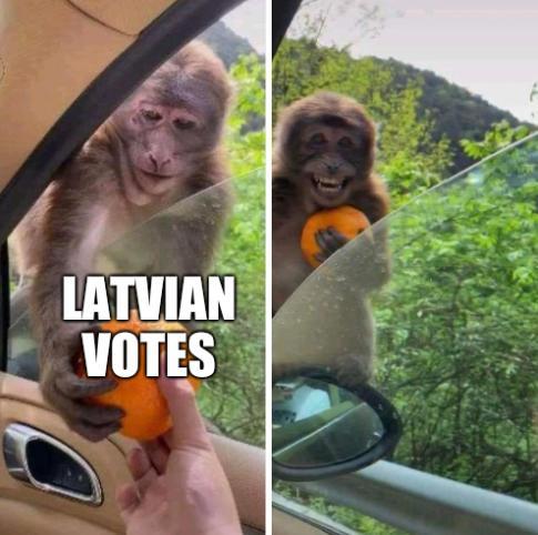 Latvian votes