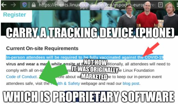 Carry a tracking device (Phone) which is proprietary software. Not how it was originally marketed.