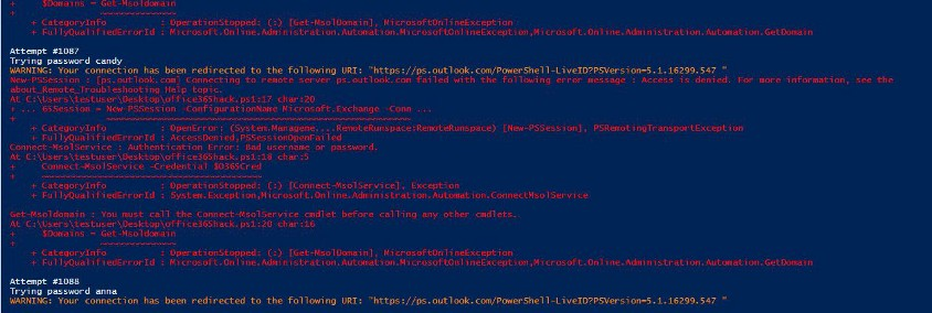 PowerShell bruce-force