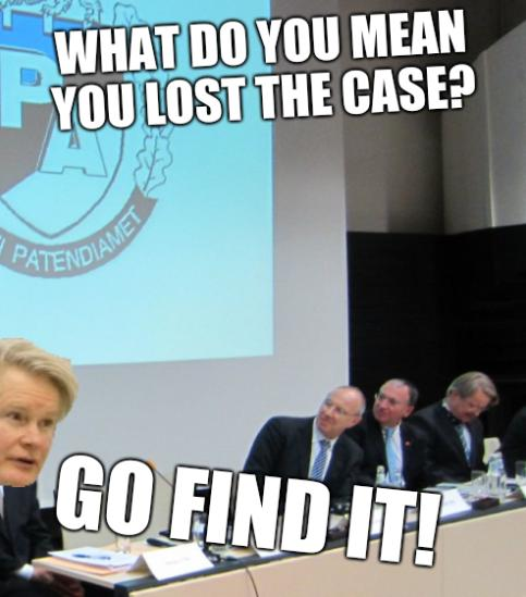 What do you mean you lost the case? Go find it!