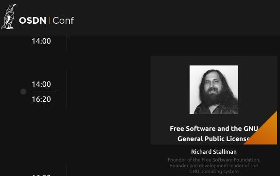 Richard Stallman talk slot