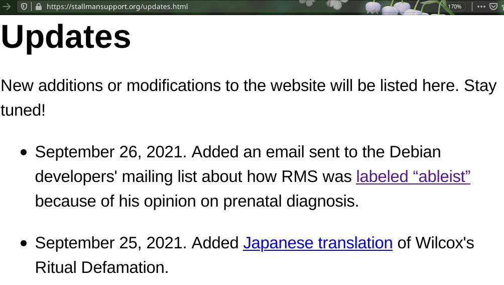 RMS updates