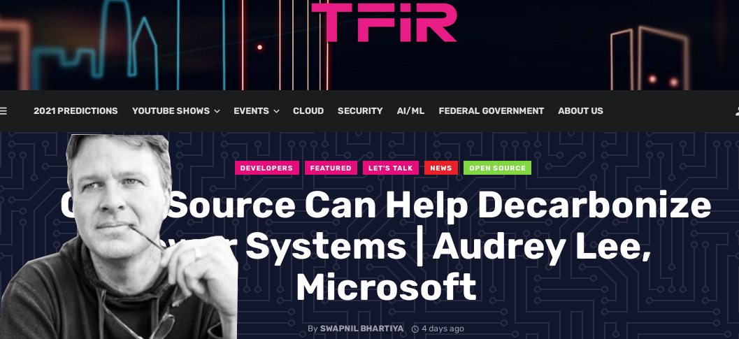 Microsoft greenwashing in TFIR