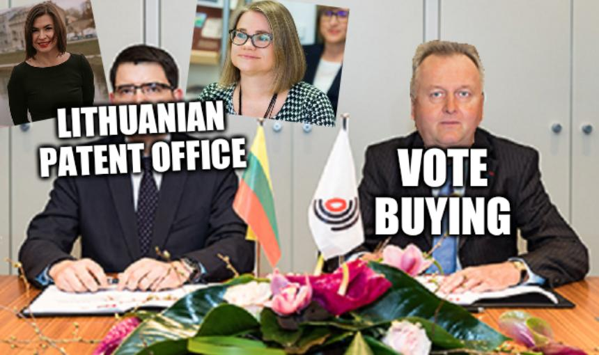Vote-buying: Lithuanian Patent Office, vote buying