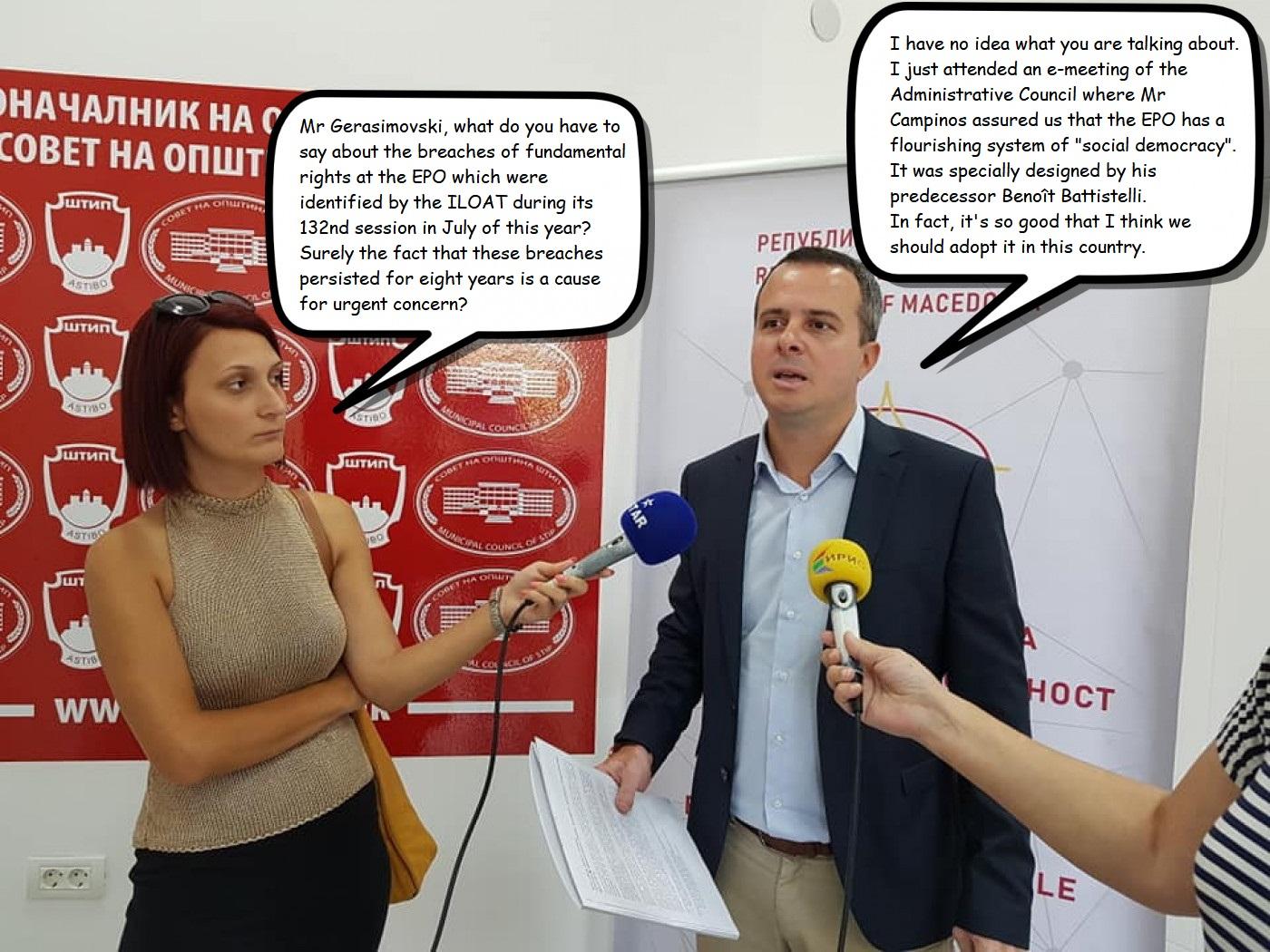 Geramovski and Social Democracy at the EPO