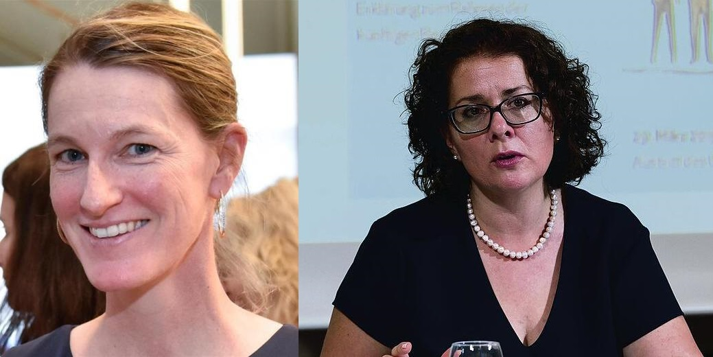 Isabel Frommelt and Esther Schindler