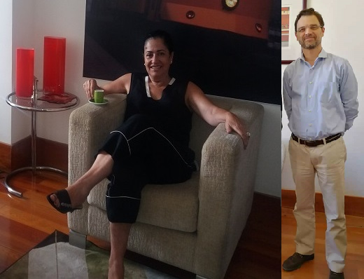 Maria Leonor Mendes da Trindade and her deputy Marco Dinis