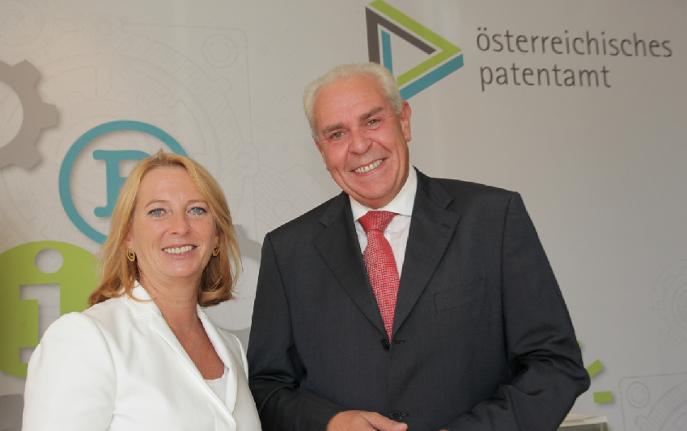Friedrich Rodler and Minister Doris Bures