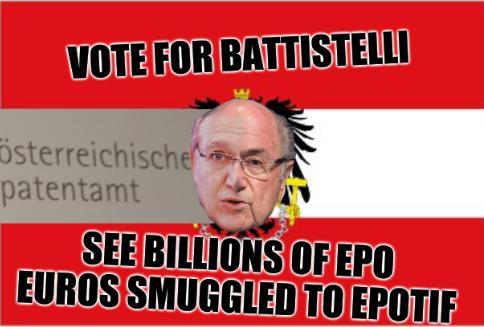 Vote for Battistelli, see billions of EPO Euros smuggled to EPOTIF