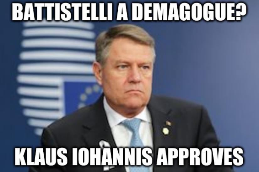 Battistelli a demagogue? Klaus Iohannis approves