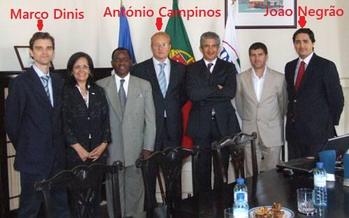 Marco Dinis together with António Campinos and João Negrão