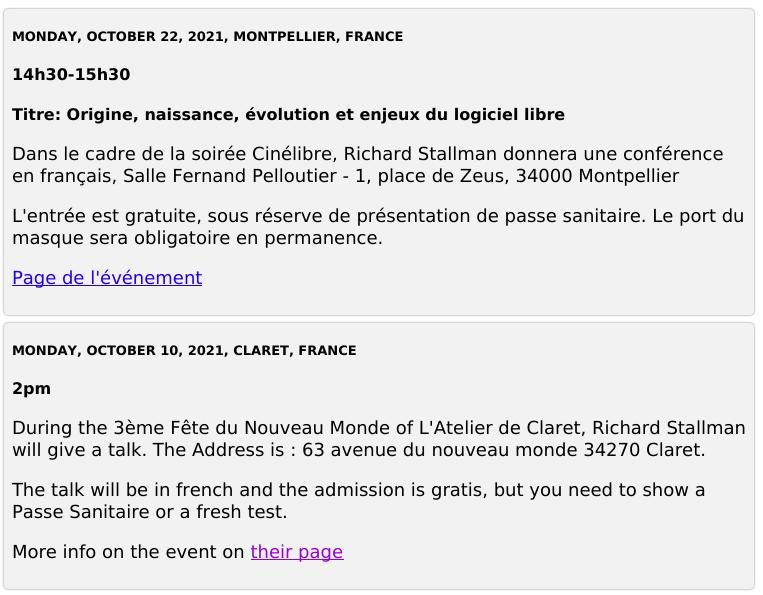 Dr. Stallman in France