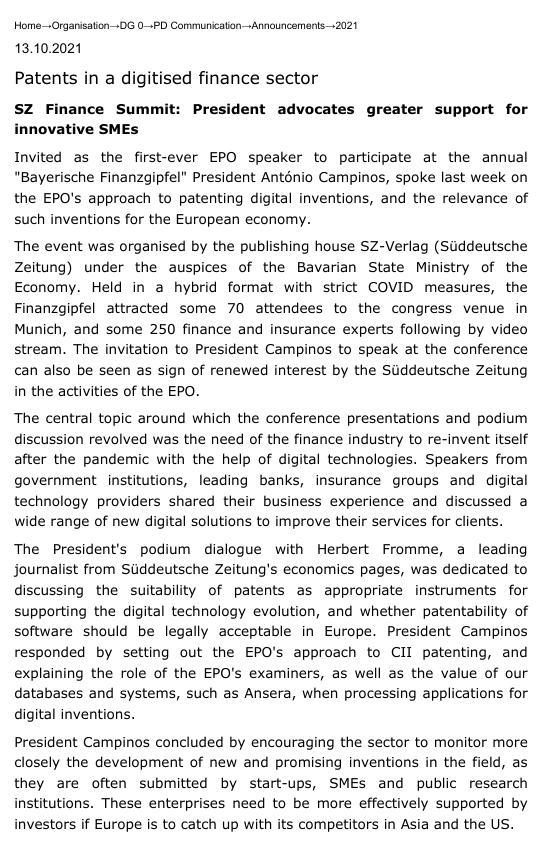 Süddeutsche Zeitung on Software Patents (from PDF/JPEG)