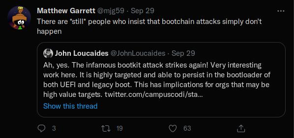 UEFI troll tweet