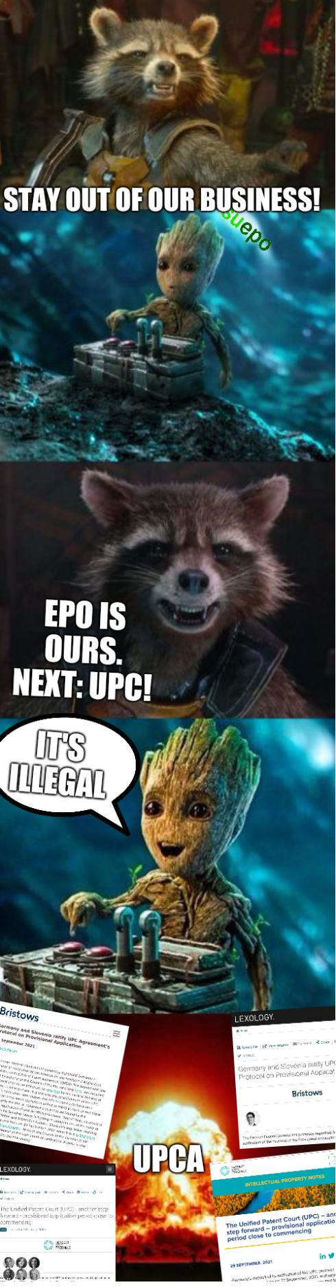 EPO is ours. Next: UPC! Stay out of our business! UPCA: It's illegal