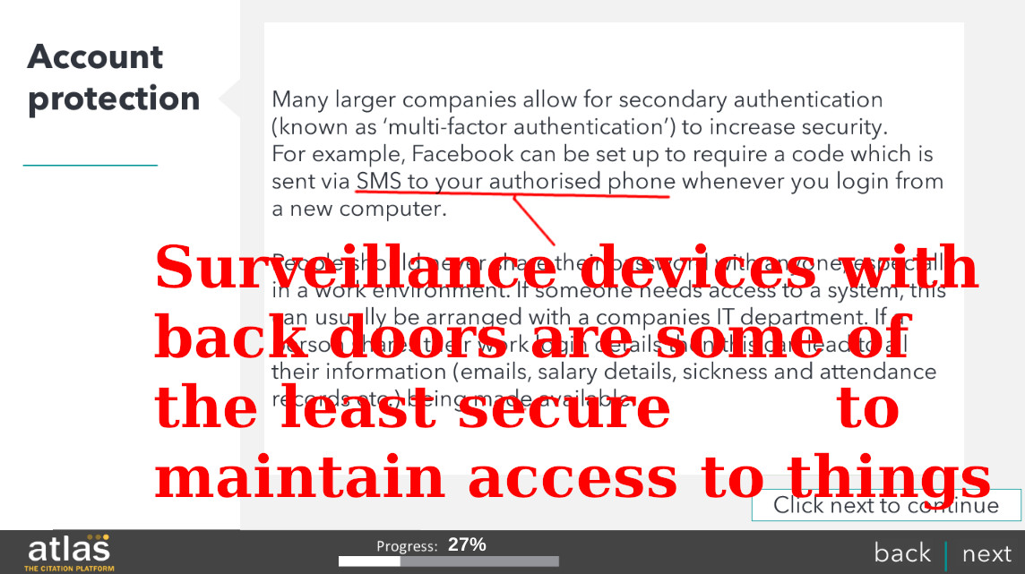 Surveillance devices with back doors are some of the least secure ways to maintain access to things
